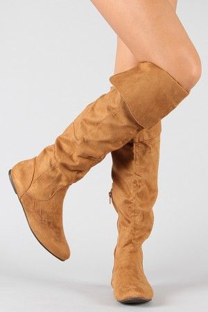 f8ad199e67ded Qupid Proud-09 Suede Cuff Slouchy Thigh High Boot $27.70 | HOLIDAY ...