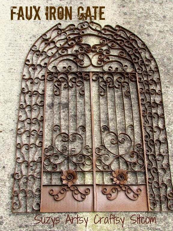 Faux Iron Gate - Made with toilet paper tubes, paper towel tubes ...