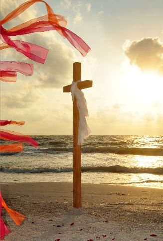 An Inspirational Cross Next To The Arch Speak Your Vows A Dream Florida Beach Wedding Crafted By Suncoast Weddings
