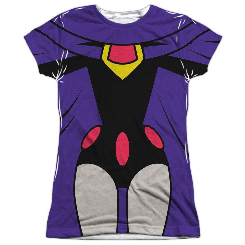 CYBORG Uniform DC Comics Costume 2-Sided All Over Print Long Sleeve Poly T-Shirt