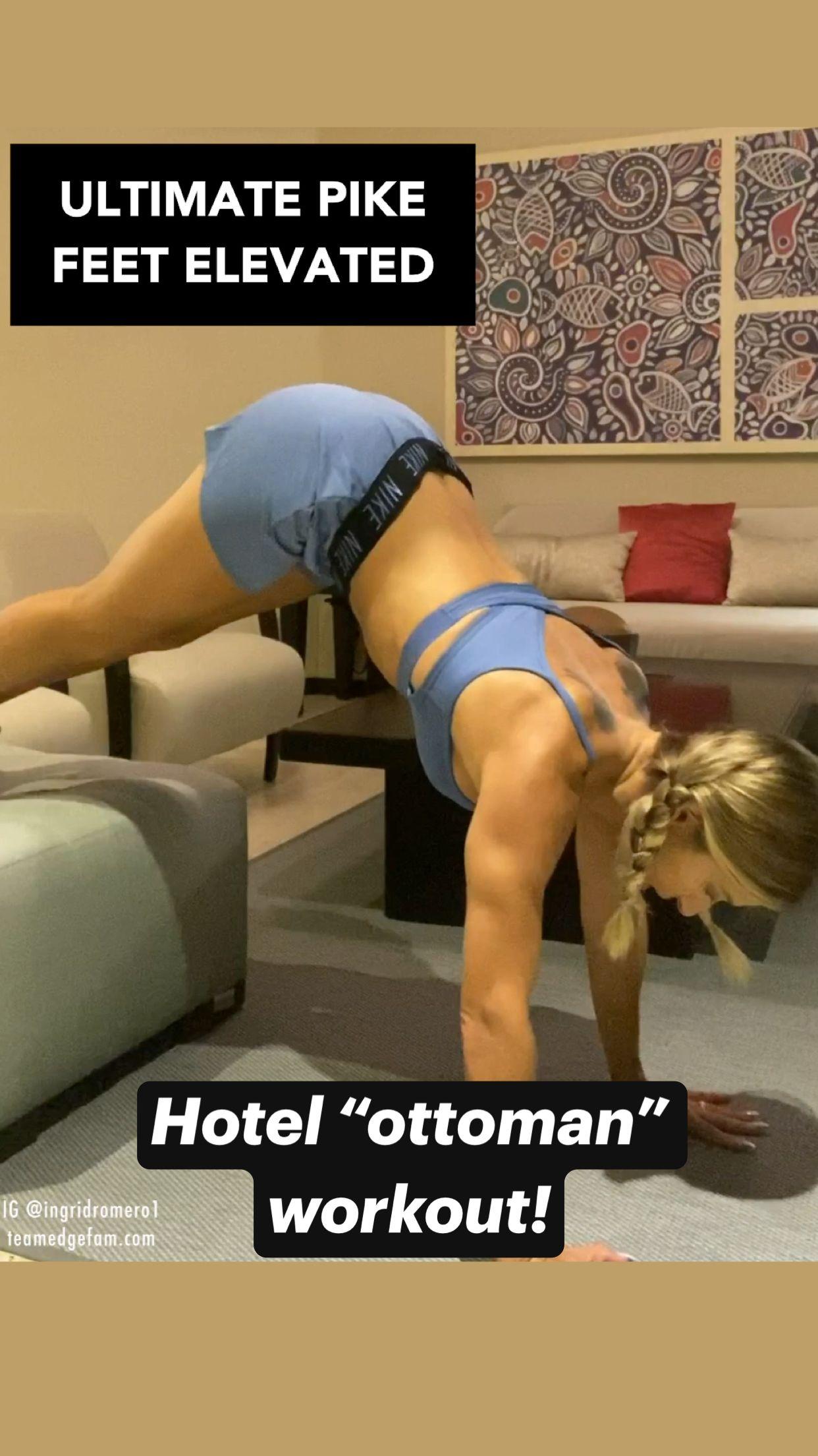 "Hotel ""ottoman"" workout!"
