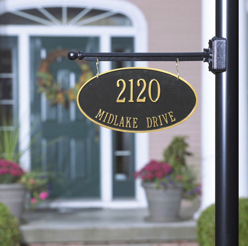 Lamp Post Hanging Address Plaques 3