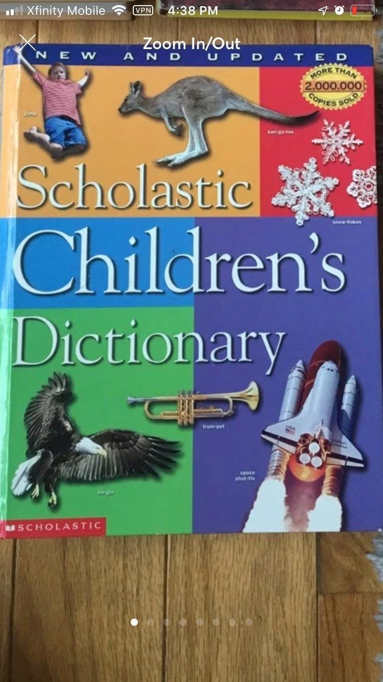 Scholastic Children S Dictionary Has Pictures In 2020 Childrens