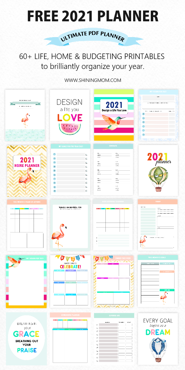 Free Planner 2021 In Pdf Design A Life You Love Free Planner Pages Planner Printables Free Daily Planner Printables Free