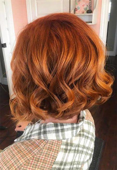 Copper hair color tips  - Frisuren mit pony -