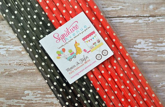 Minnie Mouse Party Mix Stripe Paper Straws-Set of 24