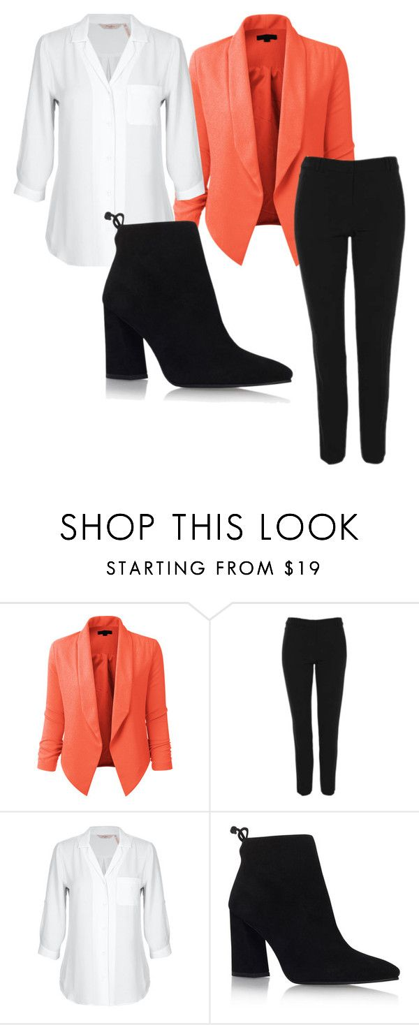 """""""Work"""" by jaydababez ❤ liked on Polyvore featuring LE3NO, Topshop and Stuart Weitzman"""