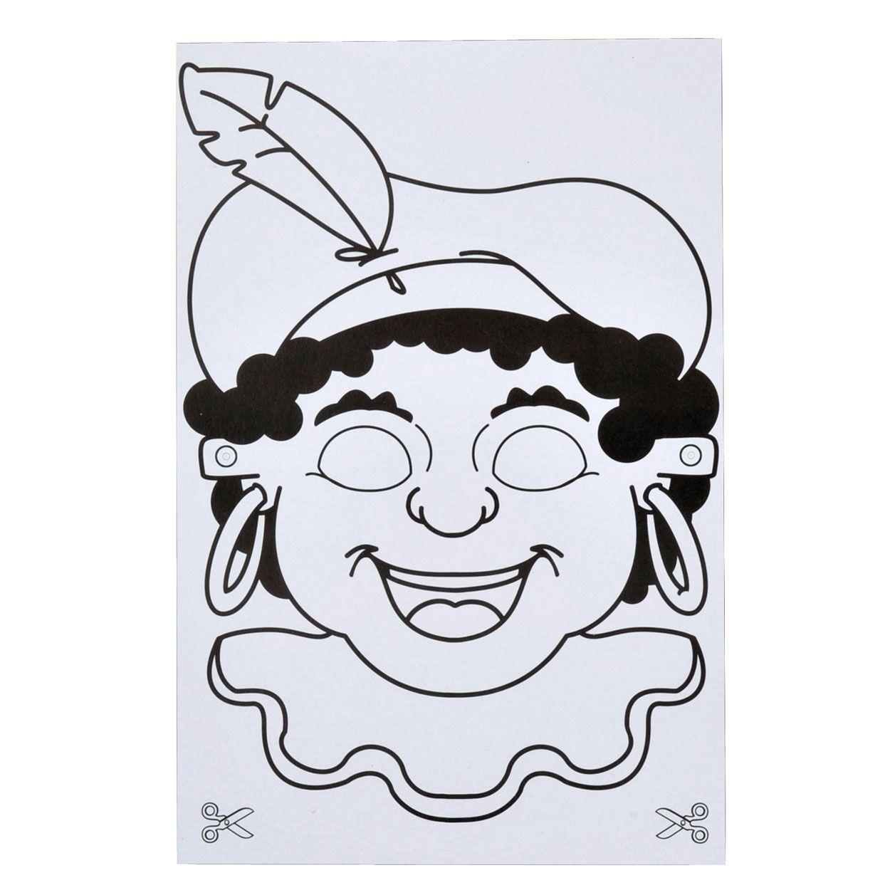 Kleurplaten Maskers Maken.Sint Maskers Maken Zwarte Piet Knutselen Sinterklaas En