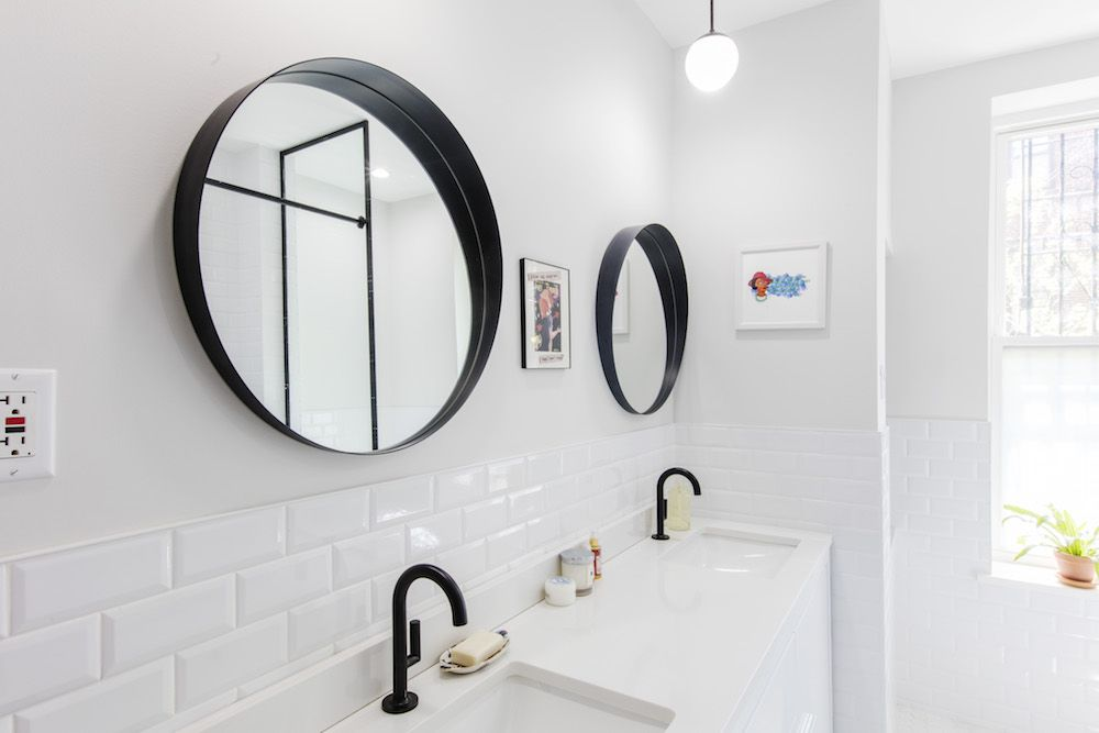 Bathroom Remodel Transforms From Beige to Uber Chic ...