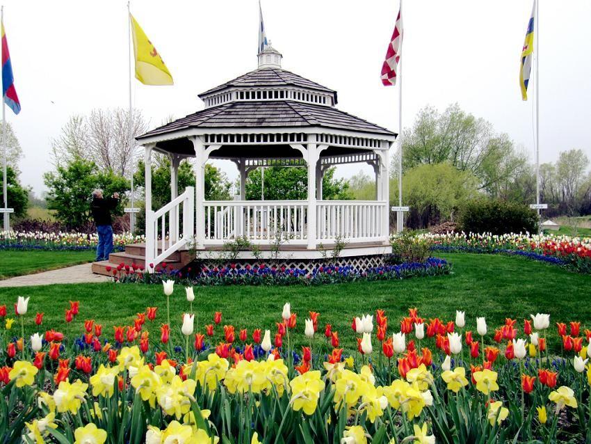 Gazebo at Windmill Island Gardens, Holland Michigan State