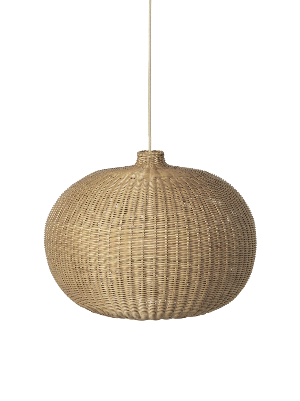 This grand, domed lampshade is braided by hand  Designer lamp for