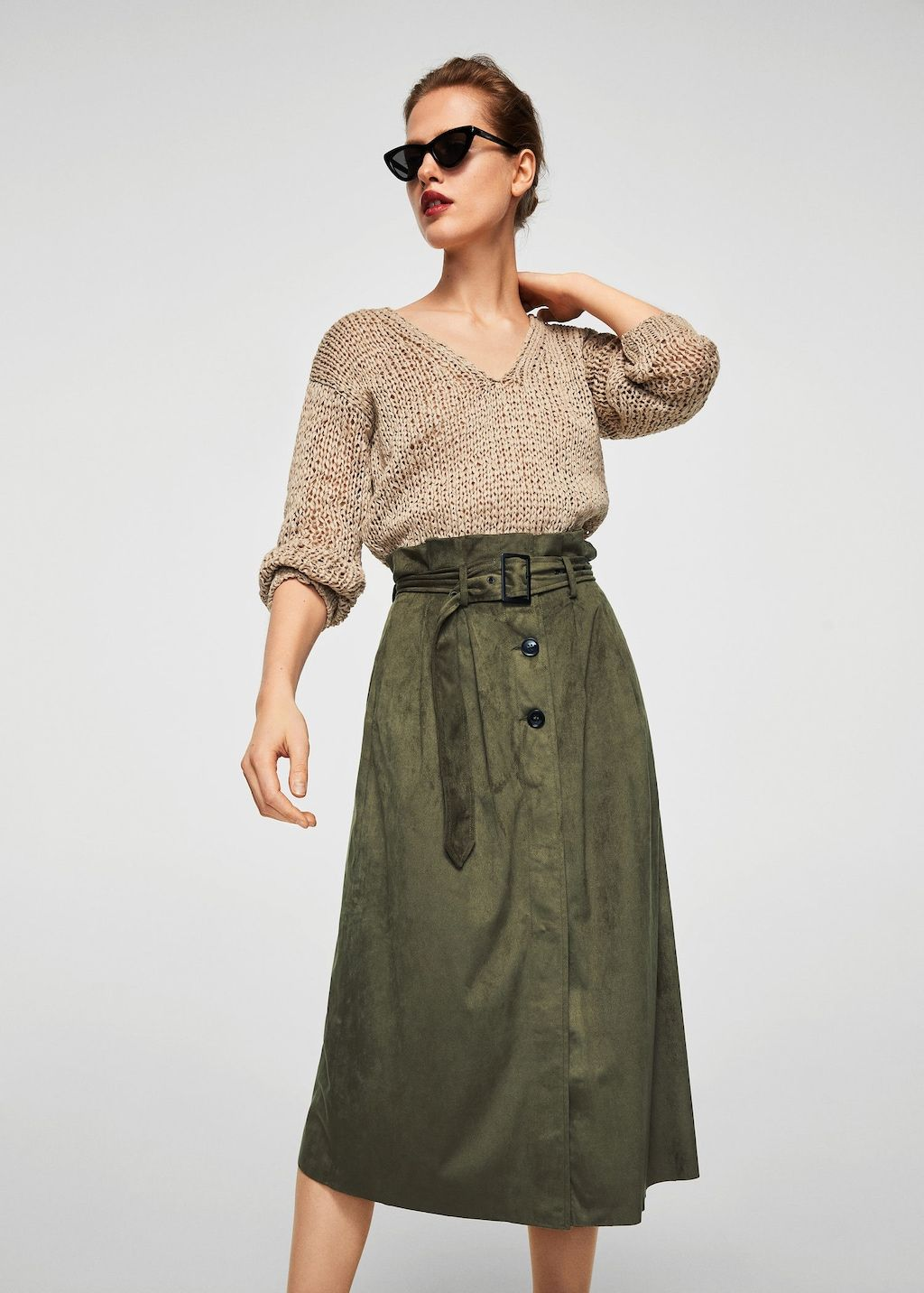04d0217a9c Buttoned midi skirt - Women | Attire | Outlet, Moda, Mujeres