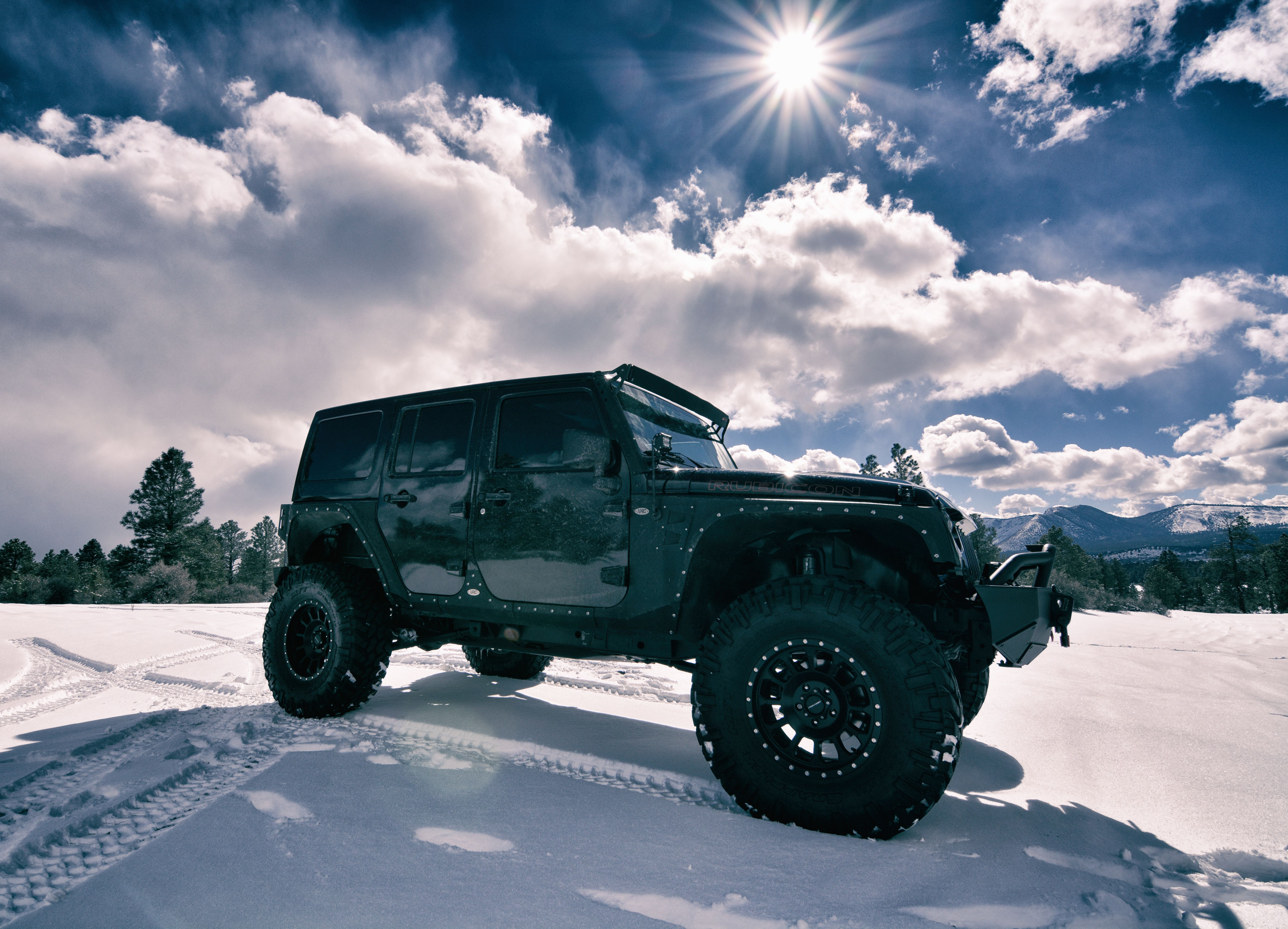 Jeep Wrangler Rubicon 4x4 Featuring A Long Travel Suspension Lift