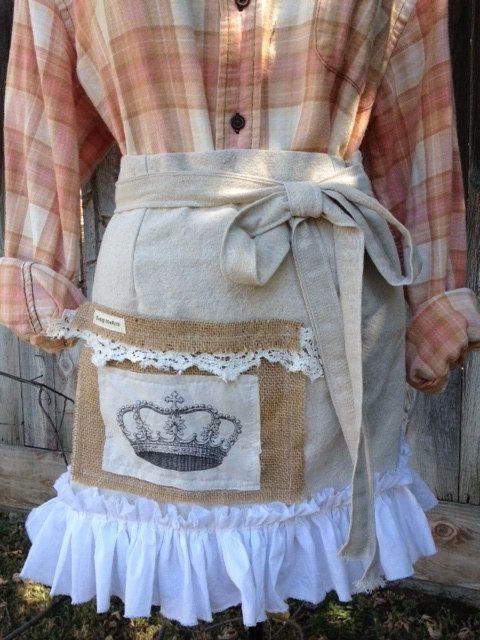Tattered Laundry Shopgirl Apron. $32.00, via Etsy.