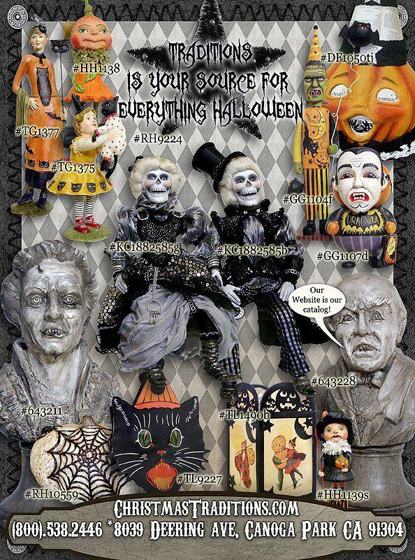 Vintage Halloween Decor! Traditions Year-Round Holiday Store - halloween decorations vintage