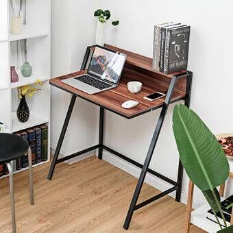 Julio 2 Tier Computer Desk Small computer desk, Computer