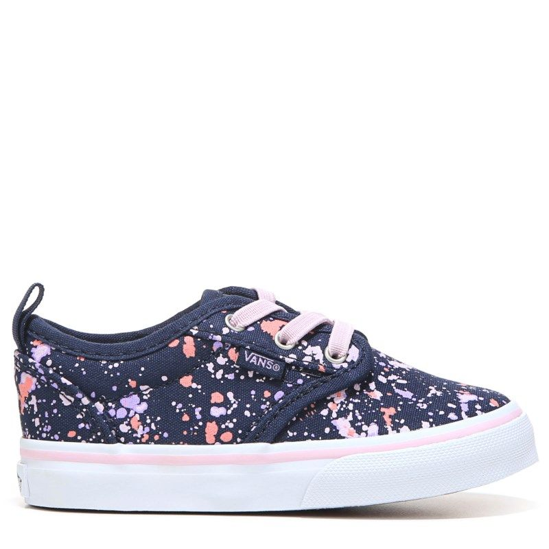 Vans Kids' Atwood Slip-ON Sneaker Toddler Shoes (Navy/Lilac)