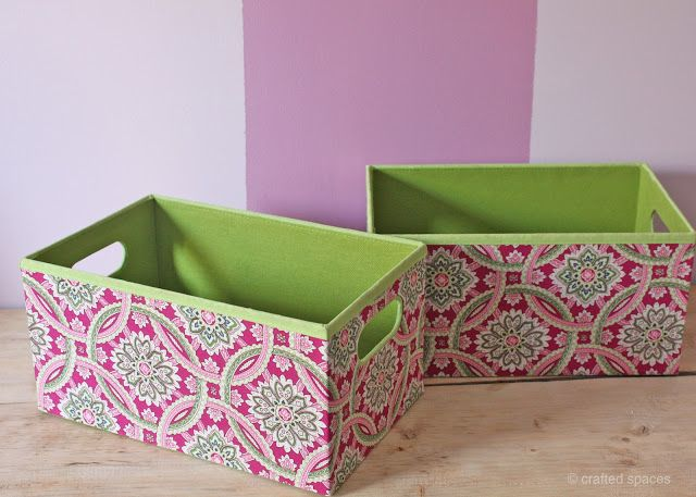 Crafted Spaces: Pattern Storage Boxes