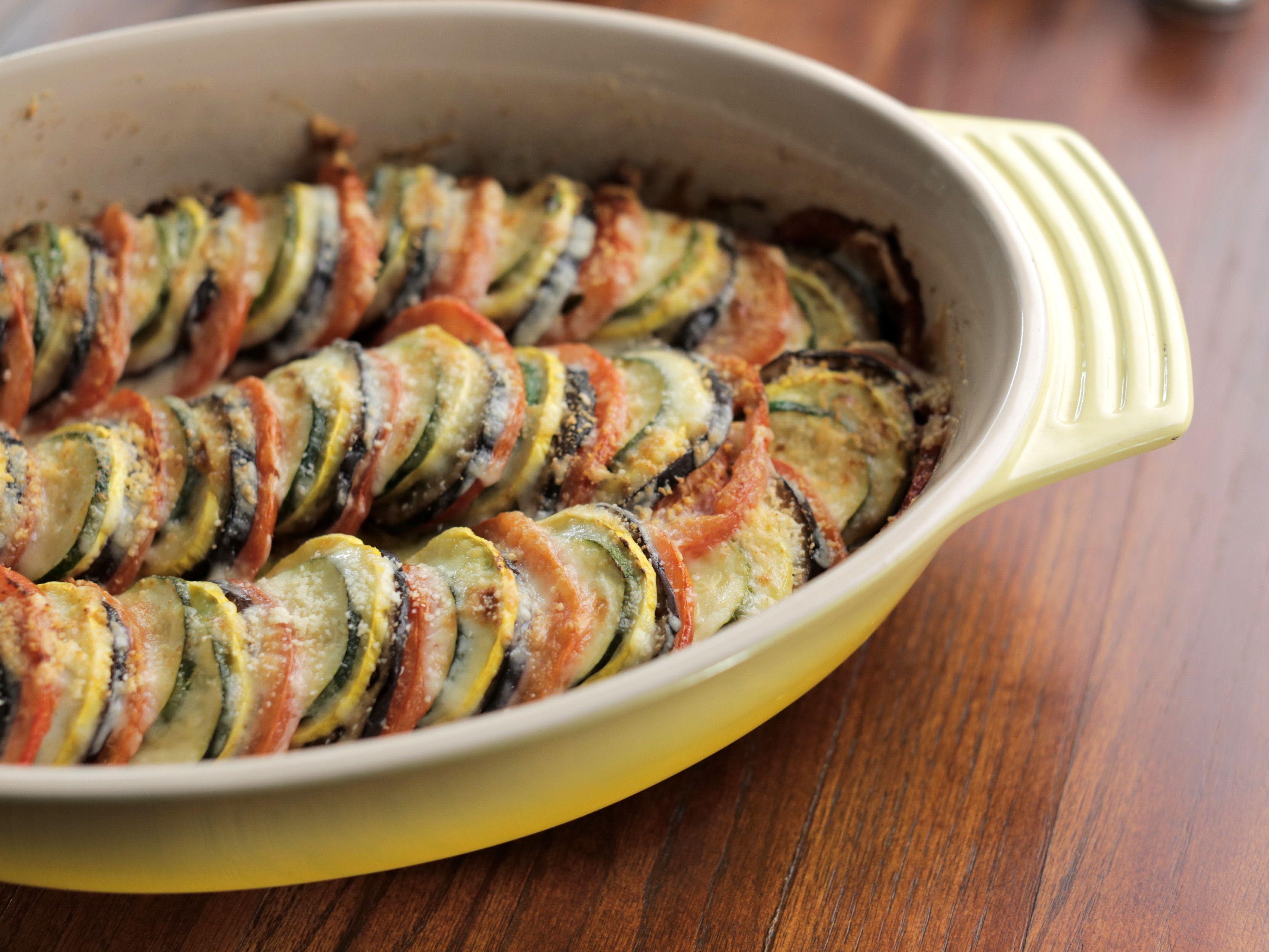 End Of Summer Vegetable Gratin Recipe Food Network Recipes Vegetable Gratin Recipes Recipes