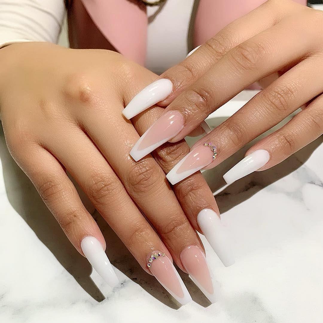 Klichynails On Instagram Book Your Appointments With Klichynails Whatsapp 27838871773 Klichynai Ombre Acrylic Nails Long Acrylic Nails White Acrylic Nails