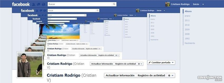 infinite feedback loop into my profile Facebook Cover FB covers
