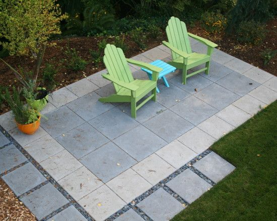 Concrete paver patio design pictures remodel decor and for Paving stone garden designs