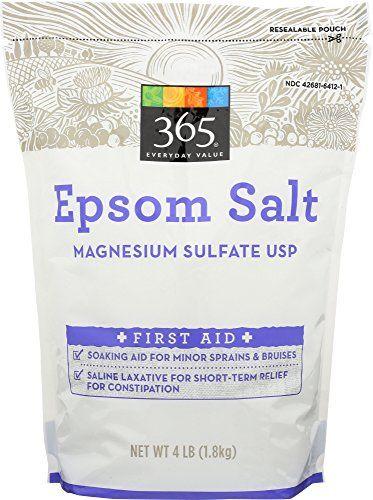 365 Everyday Value Epsom Salt 4 Pound Epsom Salt Christmas