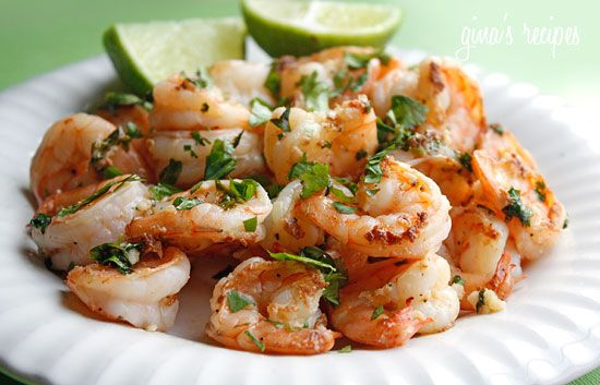 Cilantro Lime Shrimp!  Super healthy, quick, and delicious.