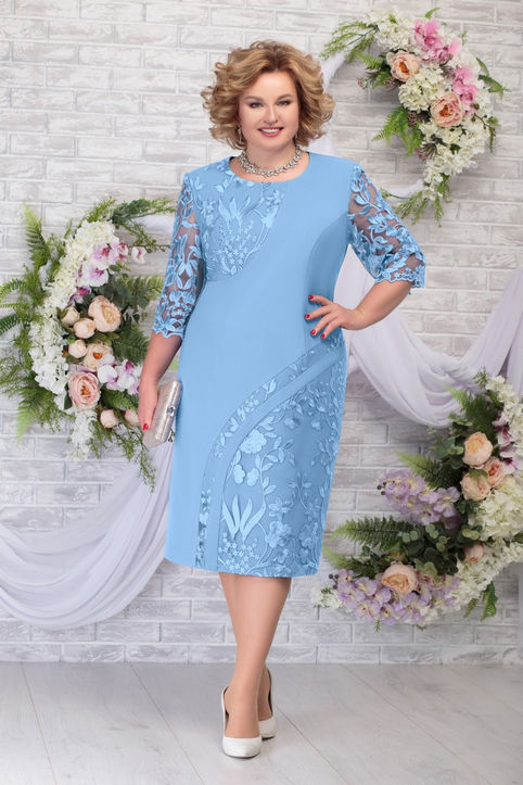 Шикарные платья для полных женщин белорусского бренда NINELE лето 2020