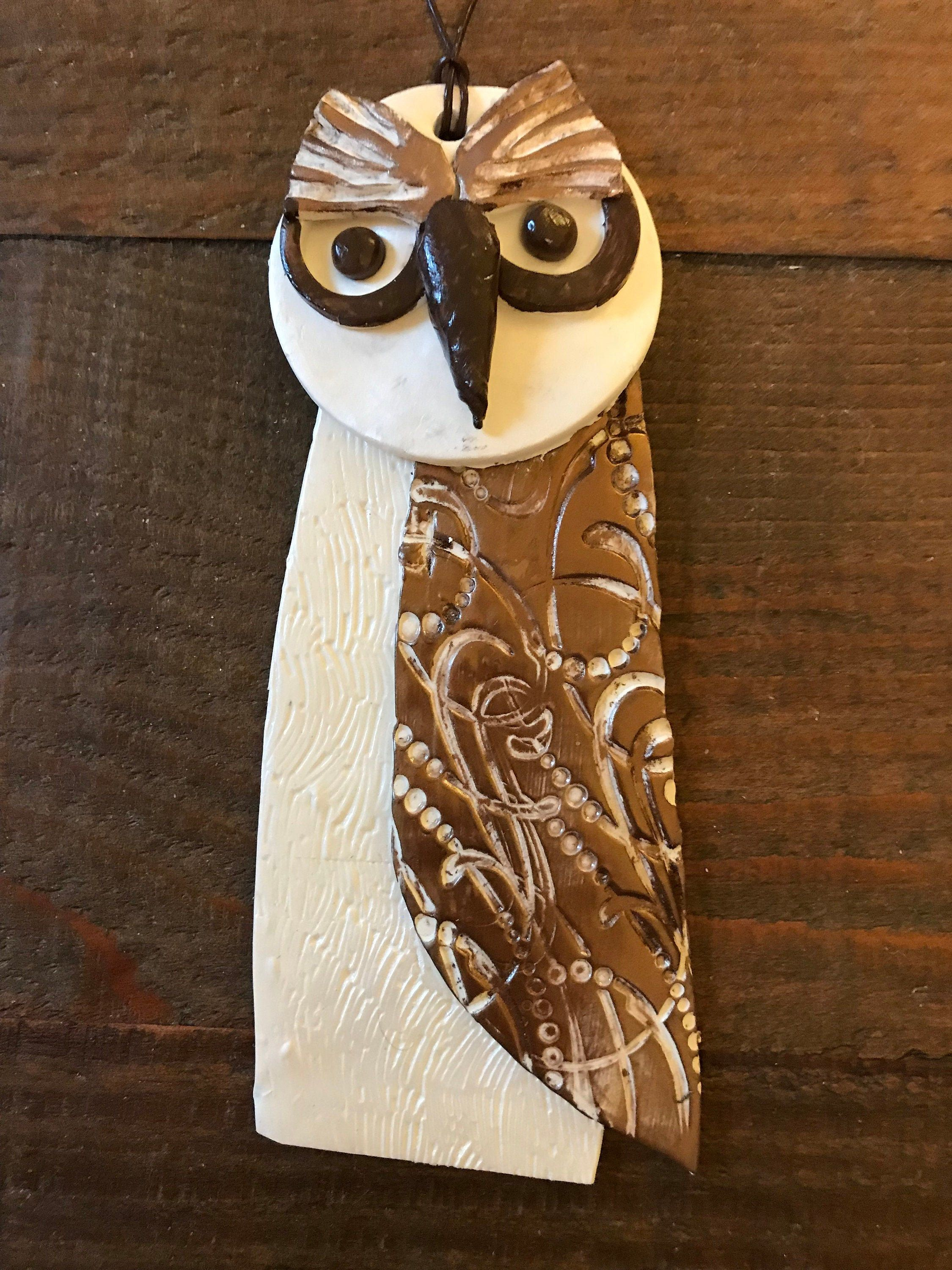 Owl Wall Hanging Indoor Outdoor Large Owl Detailed Design Etsy Owl Wall Hanging Owl Wall Christmas Owls