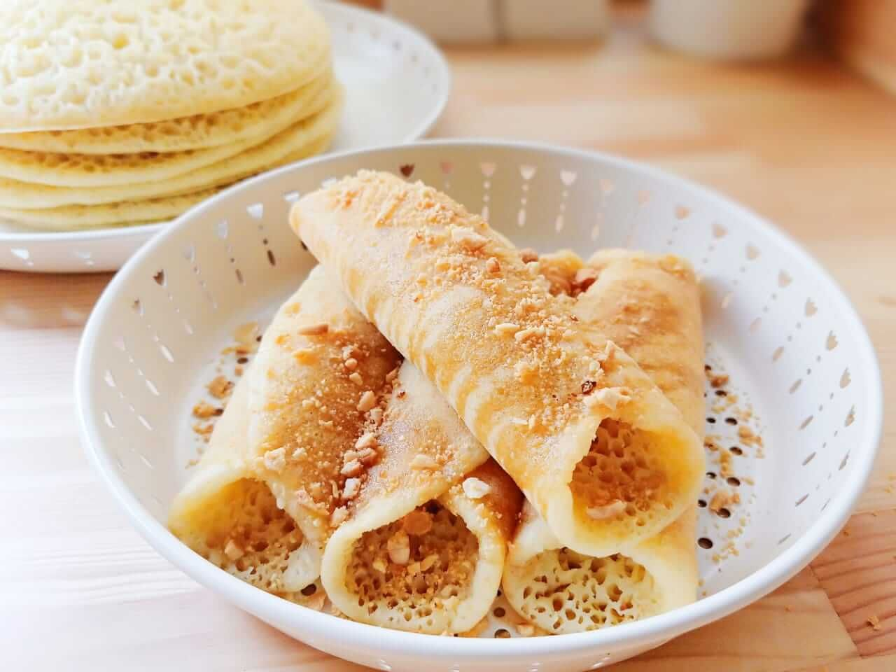 طريقة تحضير فطائر البغرير المغربي مخبوزات Momkitchenista Recipe Food Desserts Breakfast