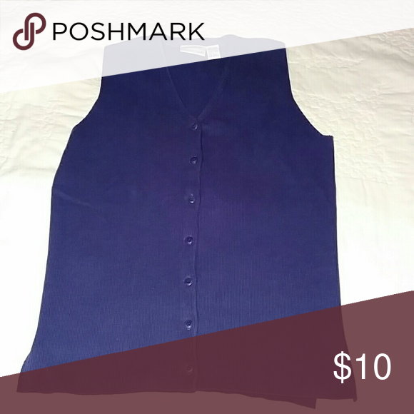 Preview collections sweater vest Dark purple button up preview collections  Jackets & Coats Vests