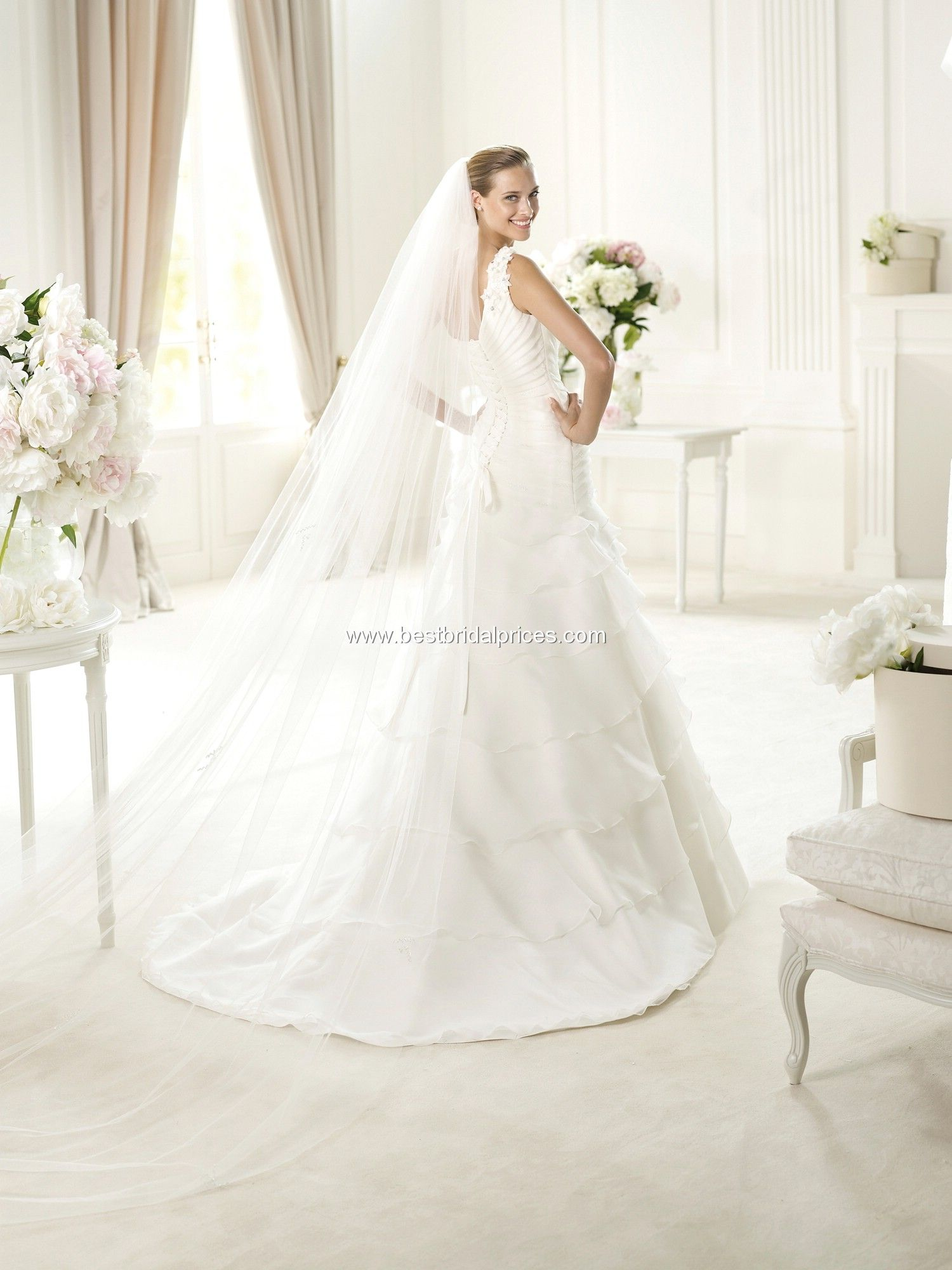 Pronovias wedding dresses style utica utica love the layers and