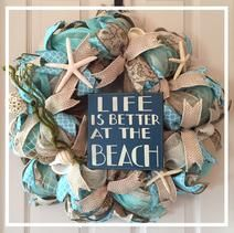 Life is Better at the Beach Wreath
