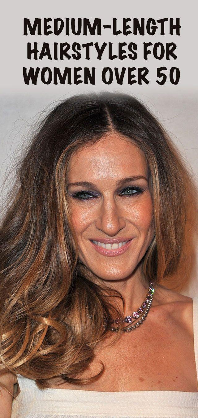 Medium-Length Hairstyles for Women Over 50