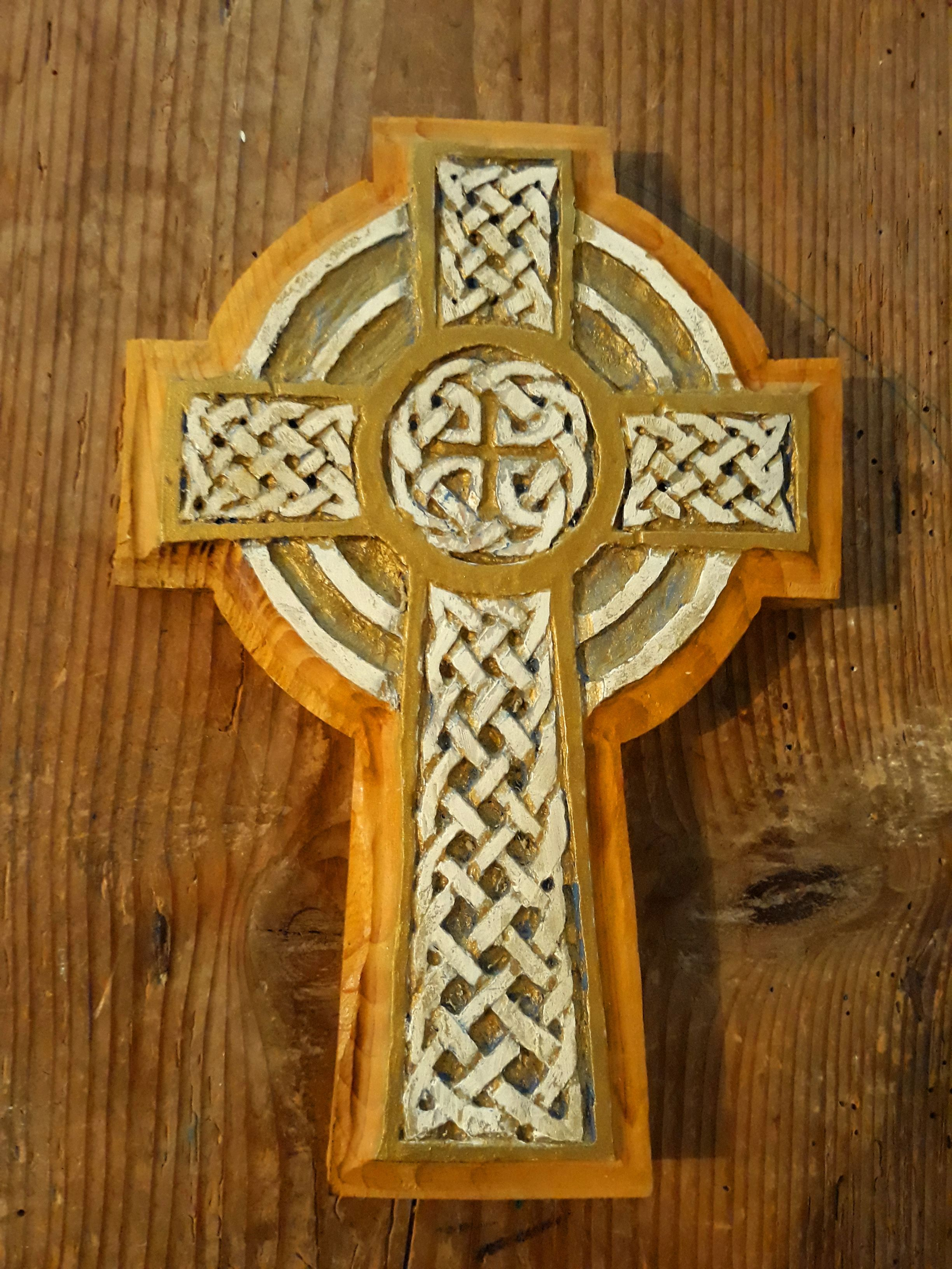 This Is A Handemade Christian Cross It Is Shaped In Cedar Wood It