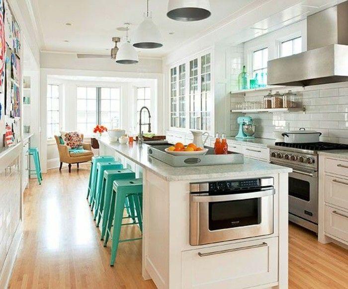 la cuisine quip e avec lot central 66 id es en photos cuisines pinterest. Black Bedroom Furniture Sets. Home Design Ideas