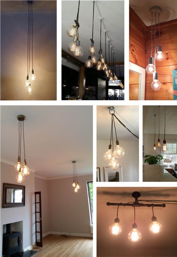3 Cluster Any Colors Multi Pendant 3 Hanging Lights Modern Etsy Hanging Pendant Lights Cluster Lights Hanging Lights