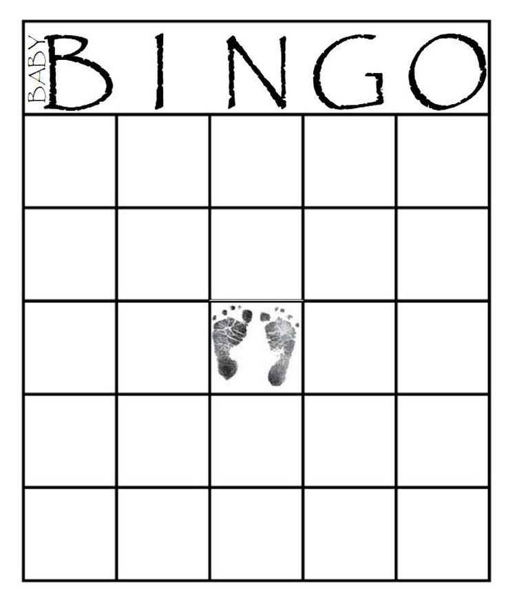 29 Sets of Free Baby Shower Bingo Cards Your Guests Will Love Baby - blank bingo card template