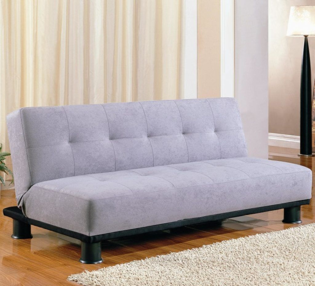 Awesome Light Gray Futon Sofa Bed Without Arms With Black ...
