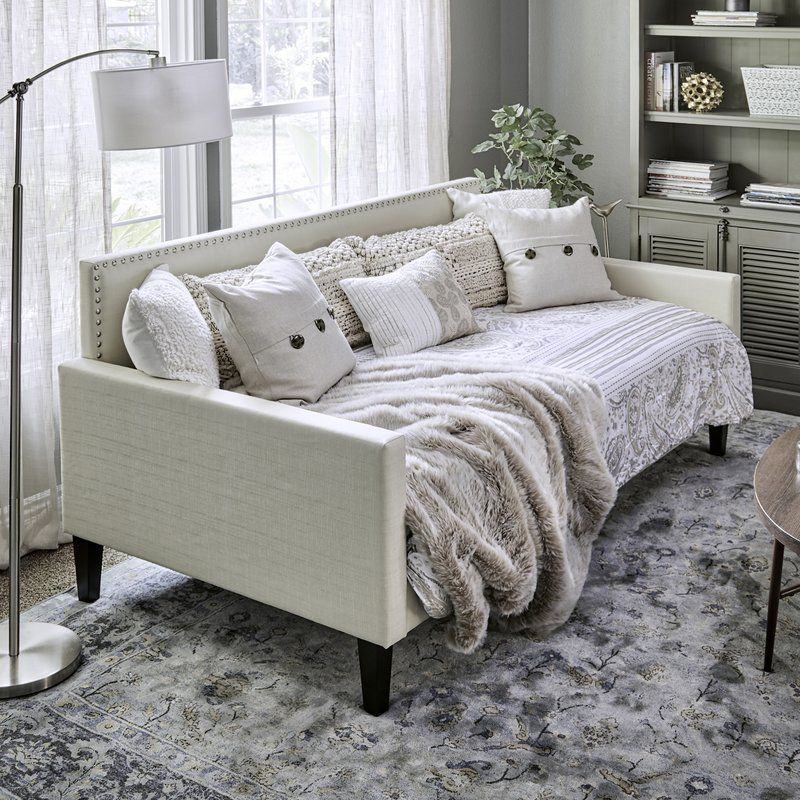 Guizar Back Twin Daybed Daybed With Trundle Twin Daybed With