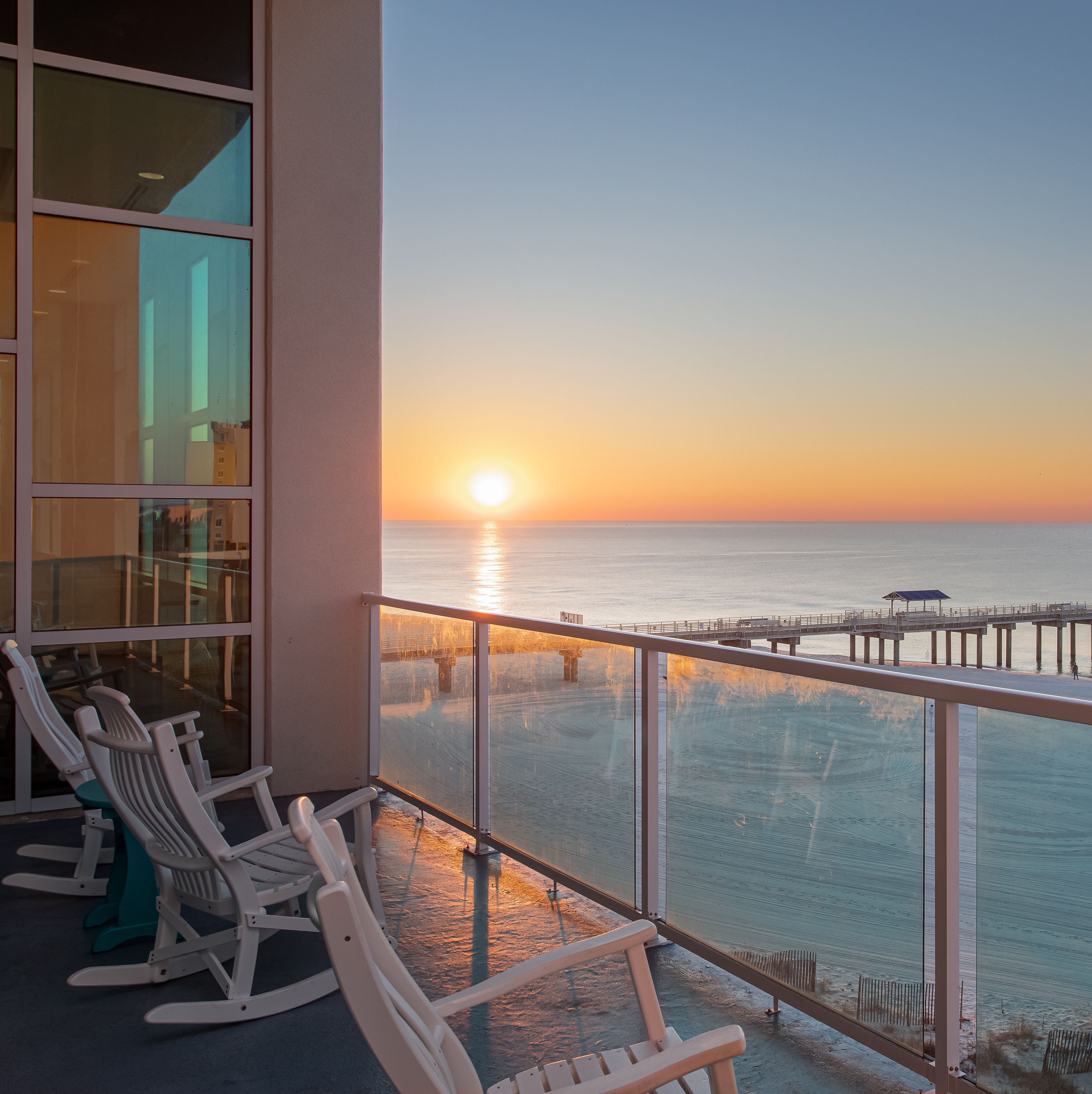 Experience The Splendor Of A Winter Evening From The Sunset Deck Of Our Tideshotelob In Orange Beach Alabama Hotel Sunset Tides Hotel Hotel