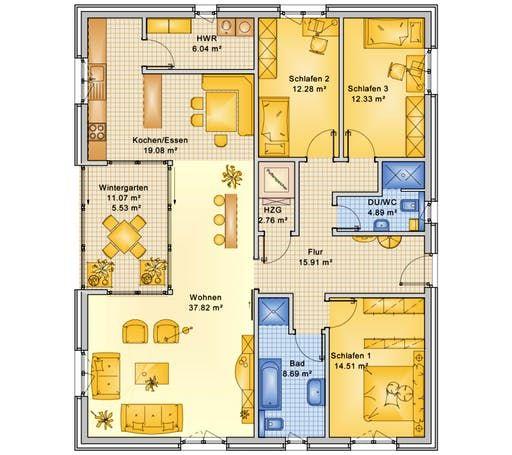 Planungsbeispiel 140H10 von Bio Solar Haus