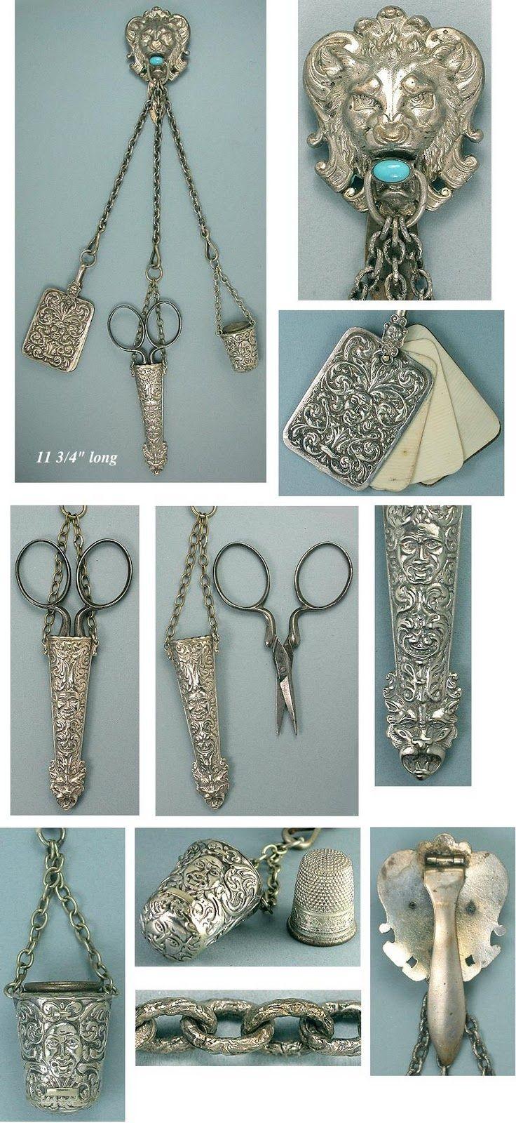 Antik varró készlet -antique sewing kit