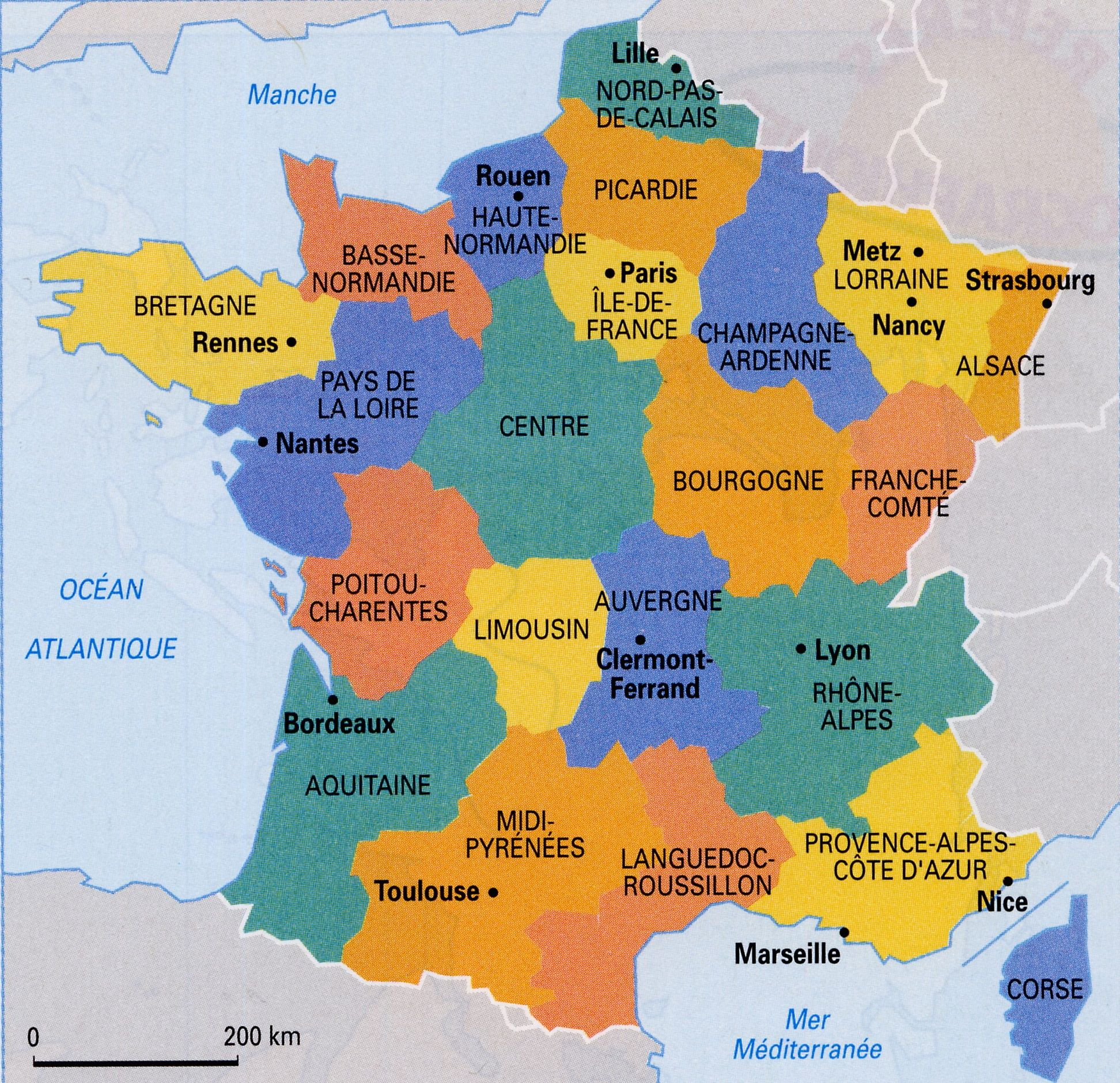 Image Result For Regions Of France Map Old Regions With