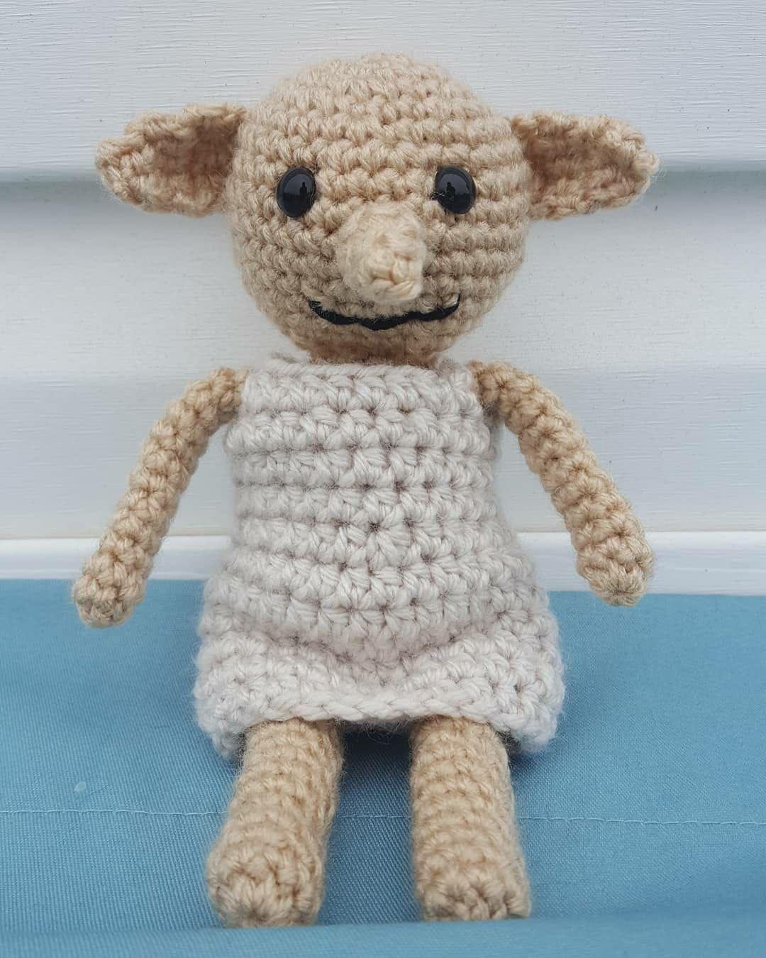 Crochet Harry Potter, Dobby the free Elf doll
