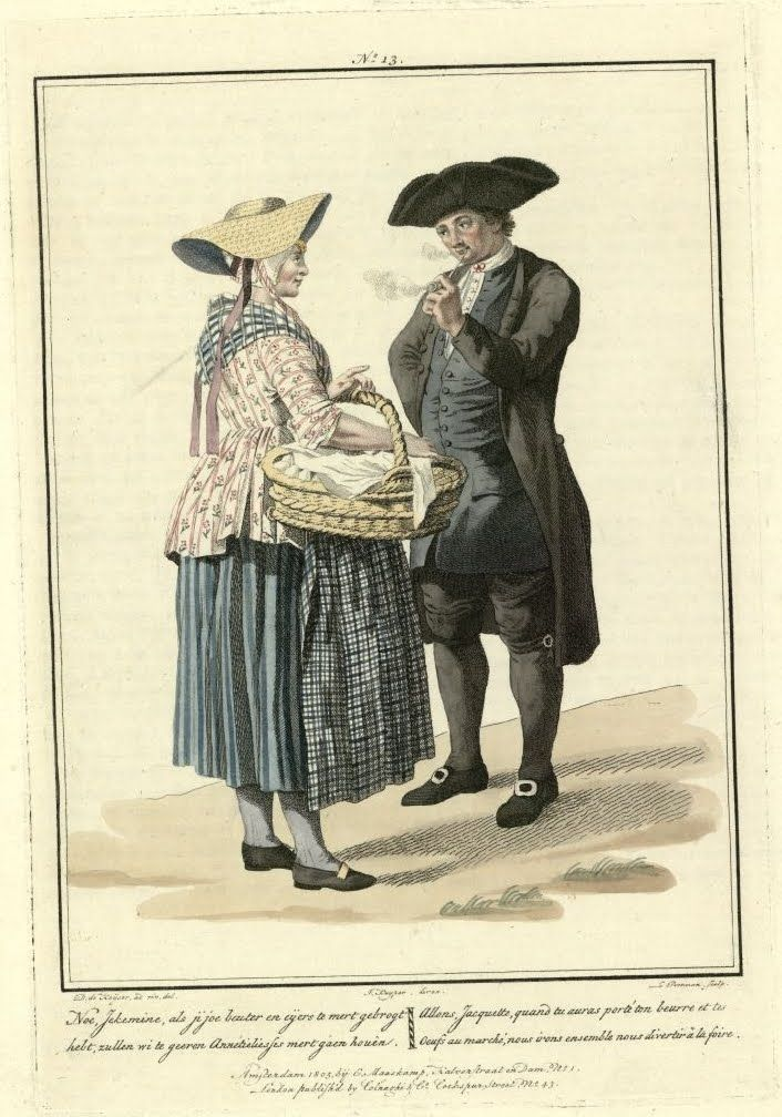 Traditional costumes in Holland in the 18th century   18th