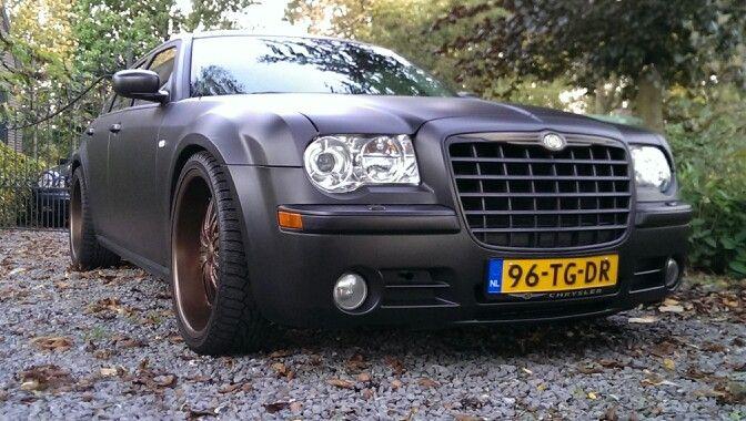 Chrysler 300c Plasti Dip Matte Black With Copper Metalizer On