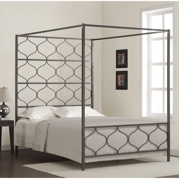 Bed Grey. Queen Canopy ... & Bed Grey | Queen canopy bed Canopy and Red headboard
