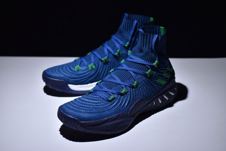 buy online ad50b 17e2b ... adidas crazy explosive 2017 primeknit high boost mens basketball shoes  blue